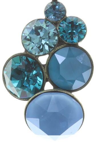 Konplott Petit Glamour Halskette mit Anhänger in blau/grün #5450543728261