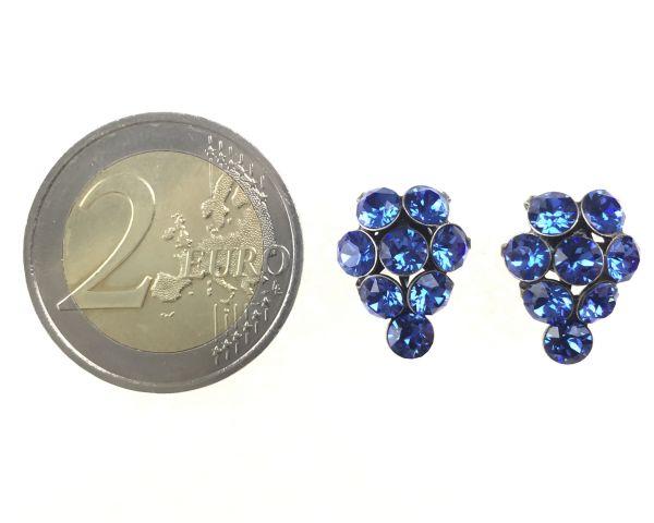 Konplott Magic Fireball Ohrstecker klassisch Traube in sapphire #5450527611756