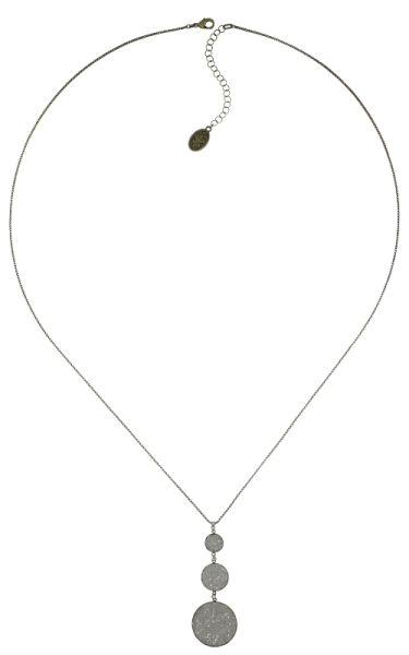 Konplott Studio 54 Halskette lang mit Anhänger in cremeweiß Messing #5450543748948