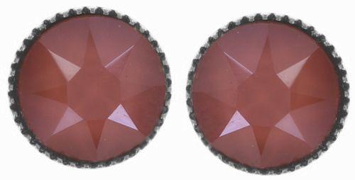 Konplott Black Jack Ohrstecker klassisch groß in coralline crystal light coral #5450543728544