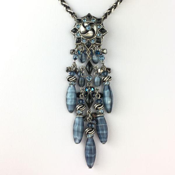 Konplott Arabic Nights blau/schwarze Halskette mit Anhänger #5450543489926