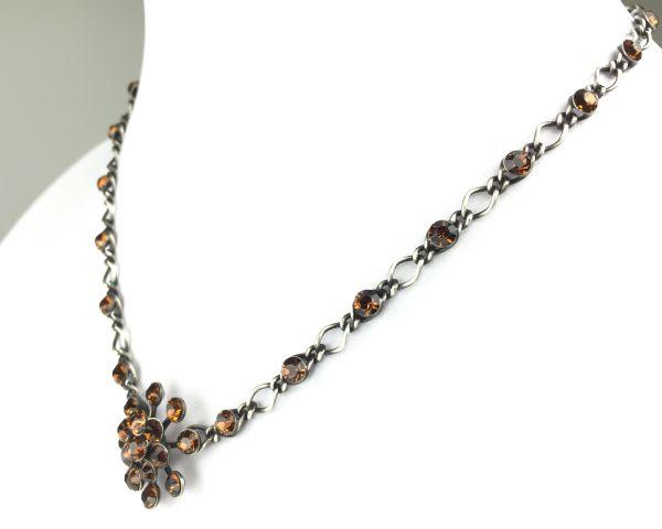 Konplott Magic Fireball Halskette steinbesetzt mit Anhänger in smoked topaz, braun #5450527640114
