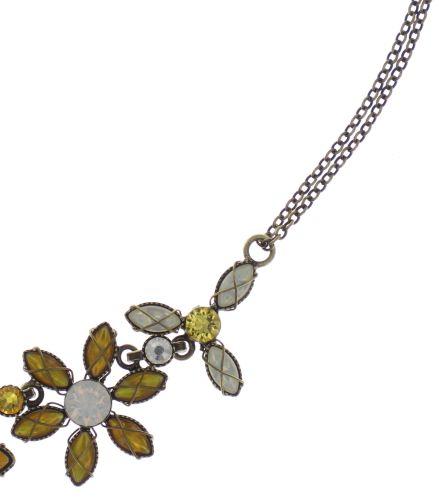 Konplott Psychodahlia Halskette in gelb Messing #5450543730417