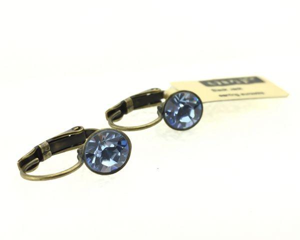 Konplott Black Jack Ohrhänger mit Klappverschluss in light sapphire, hellblau #5450527110358