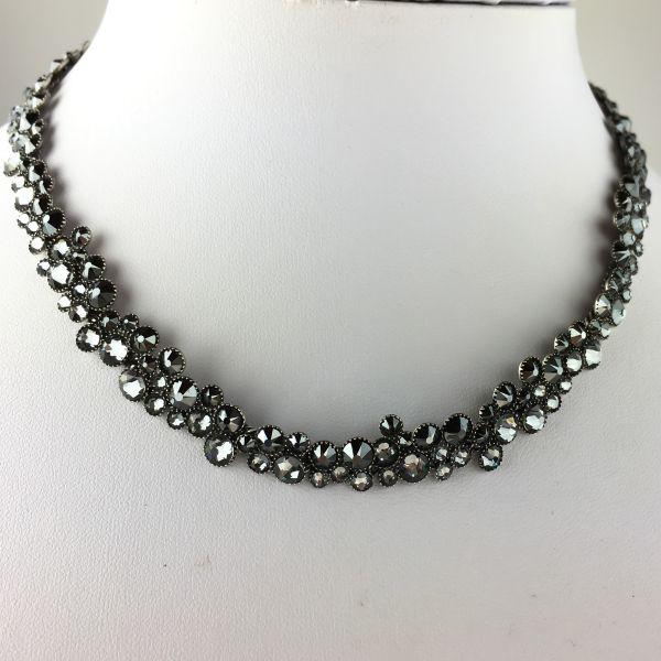 Konplott Inside Out schwarze Halskette steinbesetzt #5450543610207