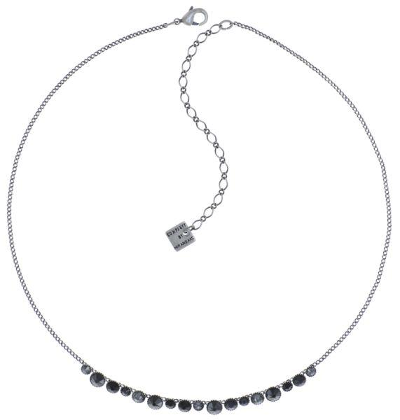 Konplott Water Cascade steinbesetzte Halskette in schwarz #5450543772899