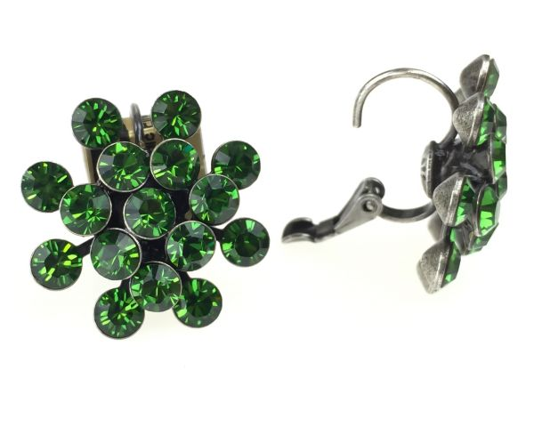 Konplott Magic Fireball Ohrhänger mit Klappverschluss in Farn grün #5450527778275