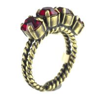Colour Snake Ring in Siam, dunkelrot