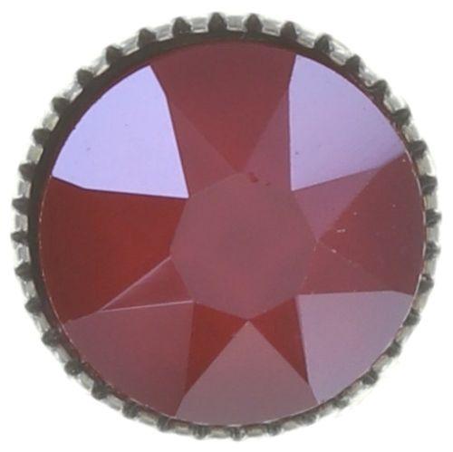 Konplott Black Jack Ohrstecker klassisch groß in rot crystal royal red #5450543723914