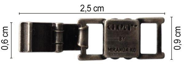 Armband Verlängerung groß in dunklem silber/schwarz