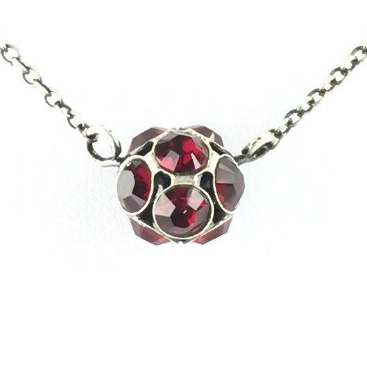 Konplott Disco Balls rote Halskette mit Anhänger M #5450527610353