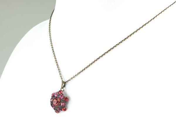 Konplott Bended Lights Halskette mit Anhänger in Koralle/ Pink #5450527758895