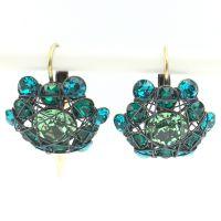Bended Lights Ohrhänger mit Klappverschluss in Blau/ Grün