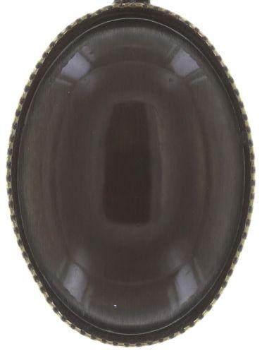 Konplott Oval in Concert Halskette mit Anhänger in grau #5450543703879