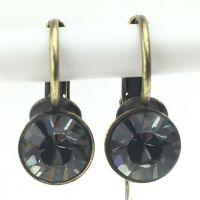 Konplott Black Jack Ohrhänger mit Klappverschluss in Black Diamond, kristall schwarz #5450527157858