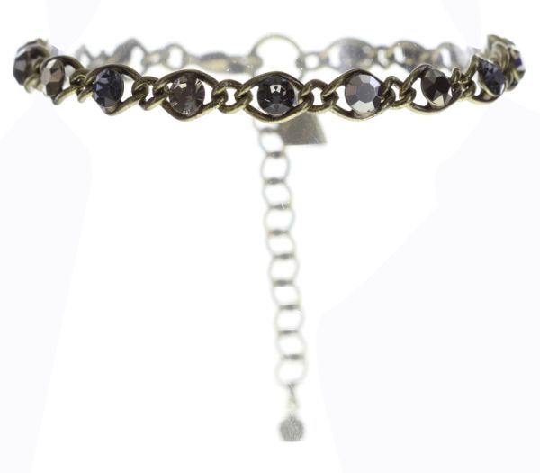 Konplott Magic Fireball Armband schwarz/ grau/ kristall #5450543685731