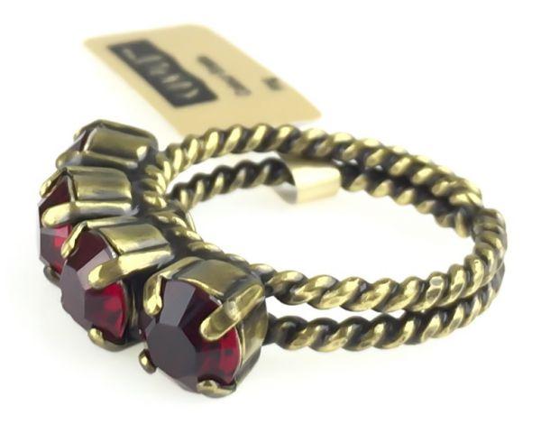 Konplott Colour Snake Ring in Siam, dunkelrot #5450527256933