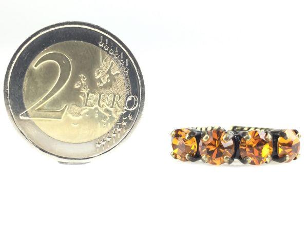 Konplott Colour Snake Ring in Topaz, gelb/braun #5450527122191
