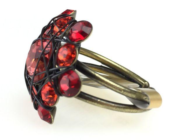 Konplott Bended Lights Ring in Koralle/ Rot #5450527759977