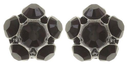 Konplott Disco Balls schwarze Ohrstecker klassisch #5450527571425
