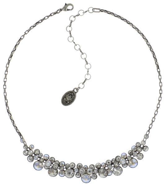 Water Cascade Halskette Collier in weiß antik silber