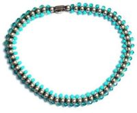 Bead Snakes elastisches Armband blau/grün