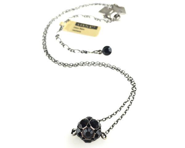 Konplott Disco Balls schwarze Halskette mit Anhänger M #5450527598538