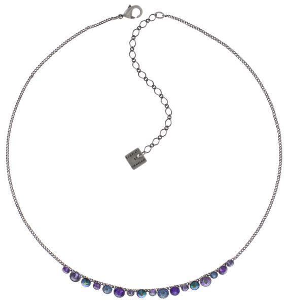 Konplott Water Cascade steinbesetzte Halskette in lila #5450543772998