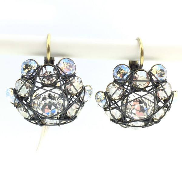 Konplott Bended Lights Ohrhänger mit Klappverschluss in Weiß #5450527759557