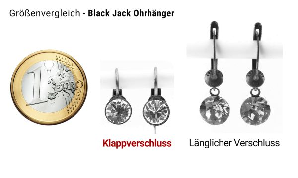 Konplott Black Jack Ohrhänger mit Klappverschluss in dark indigo, dunkelblau #5450527641524