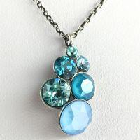 Konplott Petit Glamour hellblaue Halskette mit Anhänger #5450543630915