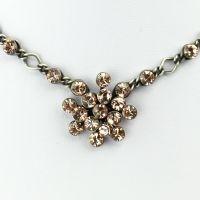 Konplott Magic Fireball Halskette steinbesetzt mit Anhänger in vintage rose