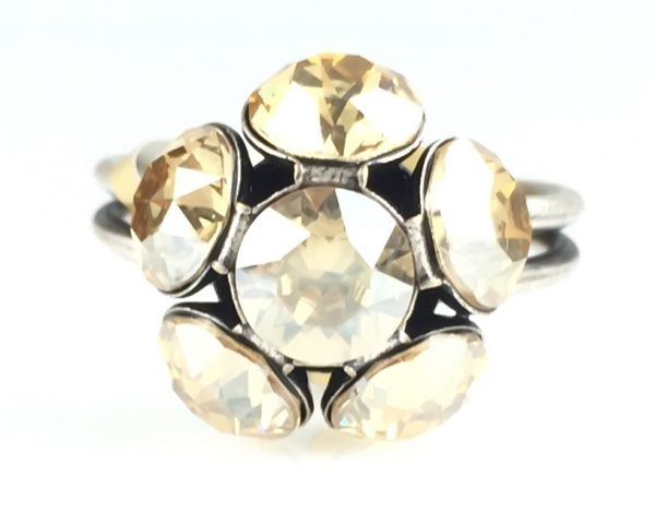 Konplott Disco Balls crystal golden shadow Ring mit 1 Kugel #5450527640749
