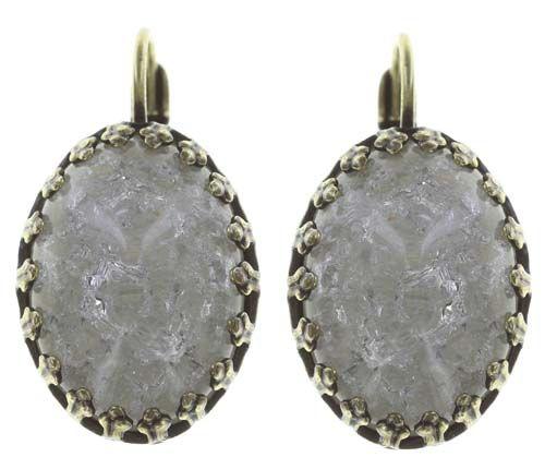 Konplott Dracula Bride Ohrhänger in weiß mit großem Stein Größe L #5450543675367