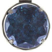 Medieval Pop Halskette mit Anhänger XL Stein blau