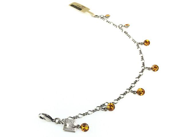 Konplott Tutui topaz Armband verschließbar, gelb/braun #5450527641340
