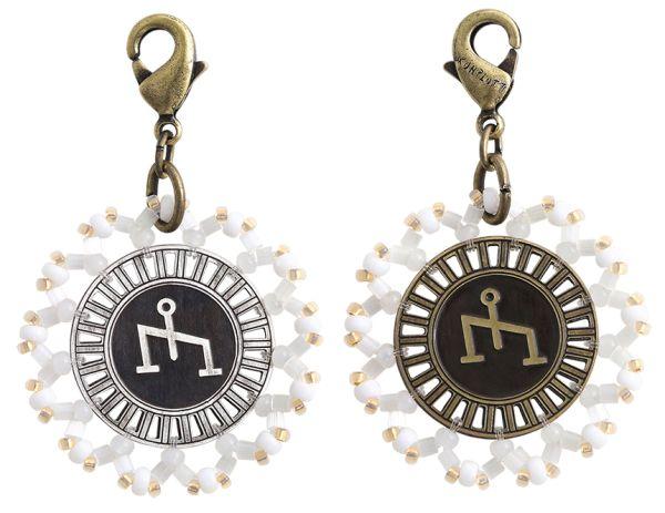 Konplott Zodiac weißer Charm-Anhänger (Waage) #5450543648392