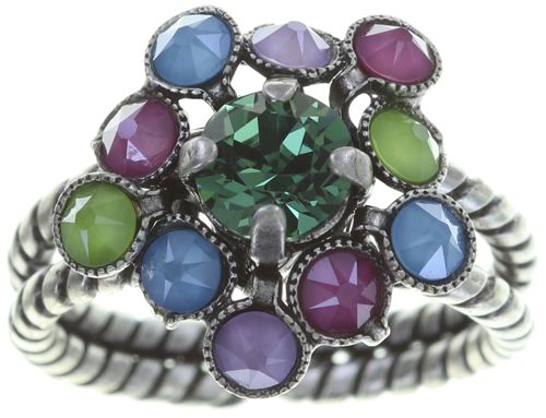 Konplott Caviar Treasure Ring in pastel multi #5450543709376