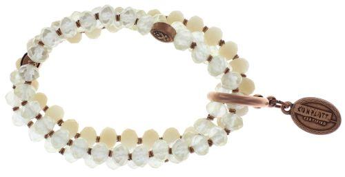 Konplott Petit Glamour d'Afrique Armband in weiß #5450543720791