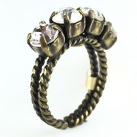Colour Snake Ring in Crystal