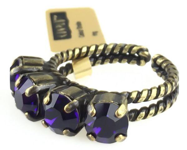 Konplott Colour Snake Ring in Purple Velvet, dunkellila #5450527552806