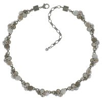 Petit Glamour weiß/beige Halskette steinbesetzt