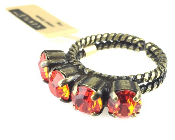 Konplott Colour Snake Ring in Hyacinth, orange/rot #5450527141420