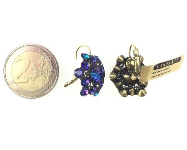 Konplott Bended Lights Ohrhänger mit Klappverschluss in Violett #5450527759403