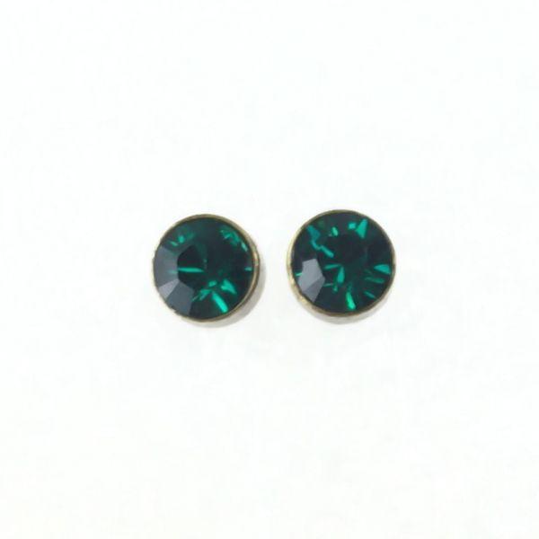 Konplott Black Jack Ohrstecker klein in Emerald, dunkelgrün #5450527266635