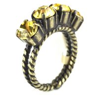 Konplott Colour Snake Ring in Light Topaz, gelb