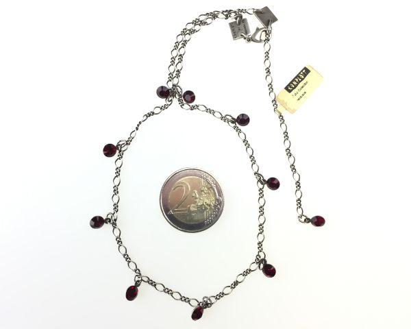 Konplott Tutui siam Halskette steinbesetzt, dunkelrot #5450527591546