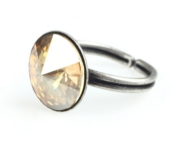 Konplott Rivoli crystal golden shadow Ring #5450527640770