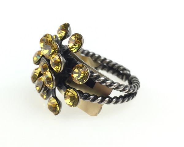 Konplott Magic Fireball 16 Stein Ring in light topaz #5450527640633