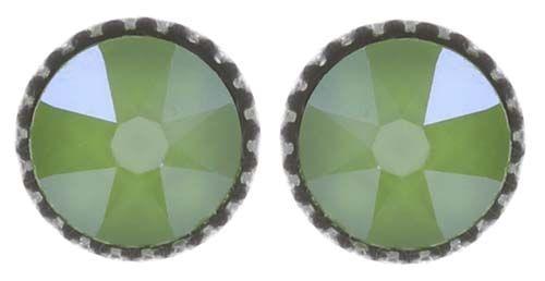 Konplott Black Jack Ohrstecker klassisch klein in grün crystal lime #5450543723884